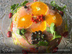Праздничное заливное из утки с брусникой «Утиная история»