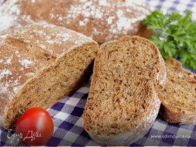 Хлебцы с цельнозерновой мукой и солодом