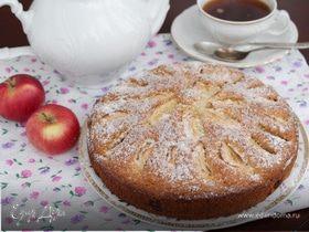 Итальянский яблочный пирог с изюмом