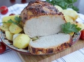 Карбонад варено-печеный в аджике