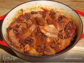 Свинина, томленная с помидорами