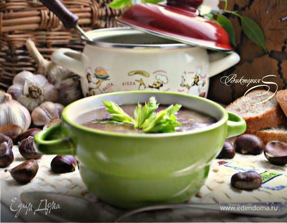 Тосканский грибной суп с каштанами