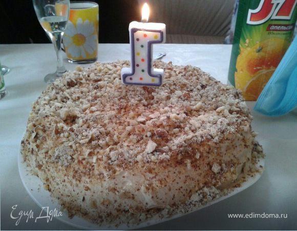 Торт мокко с миндалем