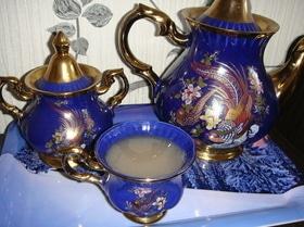Согревающий пряный чай с хурмой
