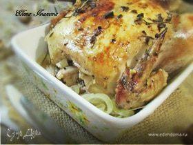 Жареный цыпленок с чесноком и травами от Джулии Чайлд