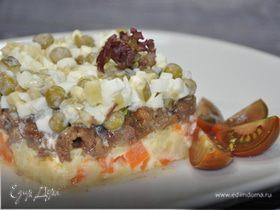 Зимний салат с тушенкой