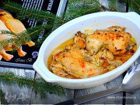 Цыпленок с чесноком и травами от Джулии Чайлд