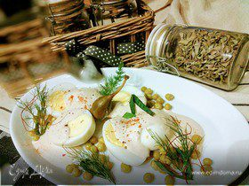 Яйца под соусом тоннато