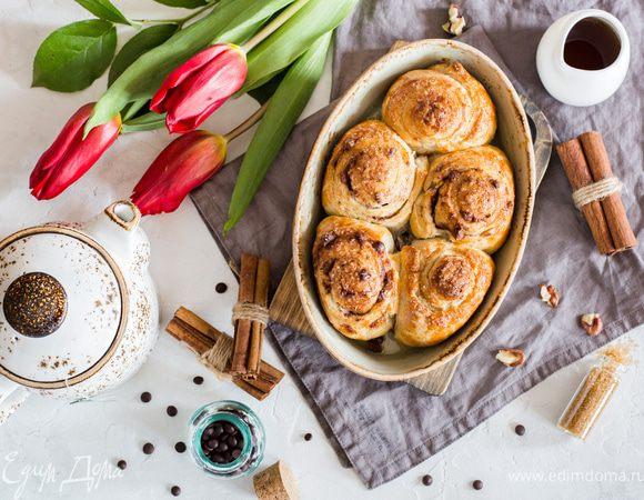 Булочки с пеканом в кленовом сиропе