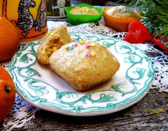 Мандариновые кексы с кардамоном