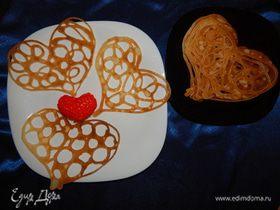 Кружевные блинчики-сердечки