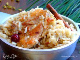 Курица с кардамоновым рисом