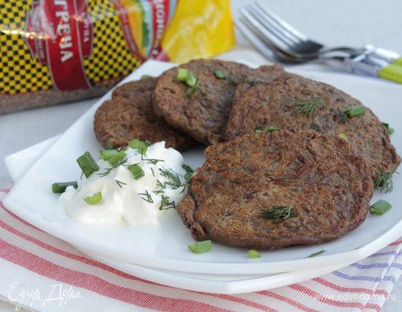 Печеночные оладьи с гречкой рецепт