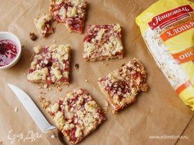 Овсяно-малиновое печенье