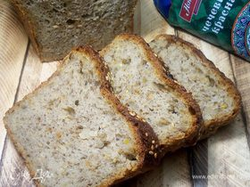 Постный хлеб с чечевицей и жареным луком