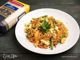 Пикантный рис в воке
