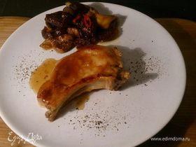 Свиная корейка с яблочно-инжирным чатни