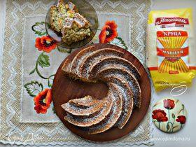 Маковый кекс на манке с ароматом апельсина
