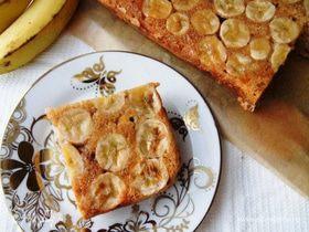 Пирог-перевертыш с бананами