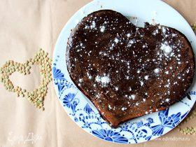 Постный десерт «Брауни с чечевицей»