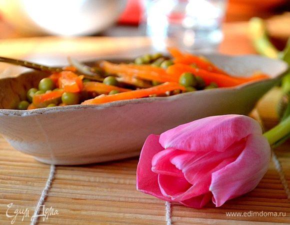 Теплый весенний салат