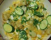 Тортилья с фетой, цукини и сладкой кукурузой