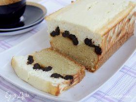 Кекс с черносливом и творогом