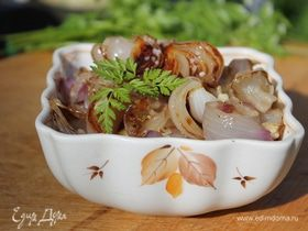 Луковый салат на гриле