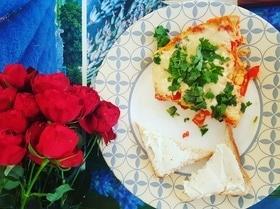 Яичница с помидорами по-азербайджански