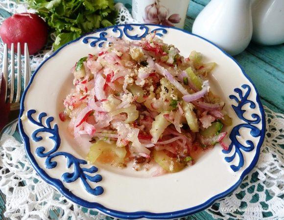 Салат из редиса и сельдерея