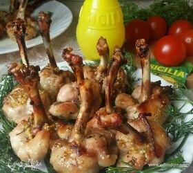 Куриные крылышки в медово-лимонном маринаде