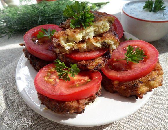 Кабачково-рисовые оладьи «Для пикника»