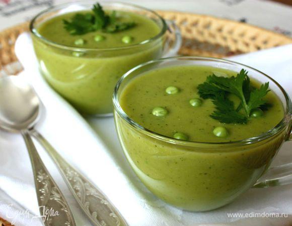Суп из горошка с кориандром