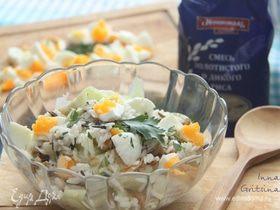 Салат с рисом и кабачком