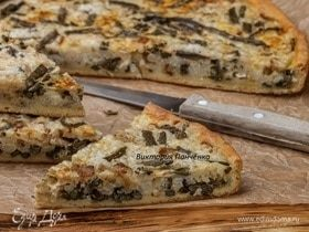 Пирог с рисом и папоротником