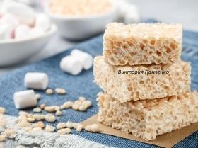 Квадратики с маршмеллоу и воздушным рисом