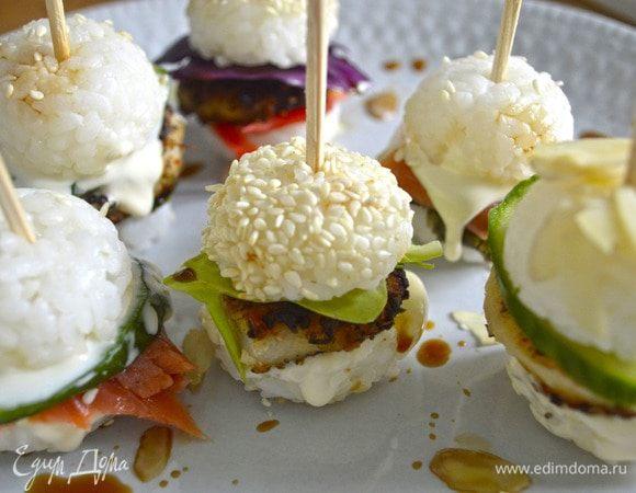 Мини суши-бургеры