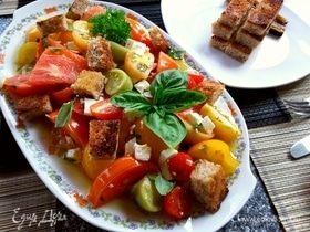 Салат из запеченных помидоров