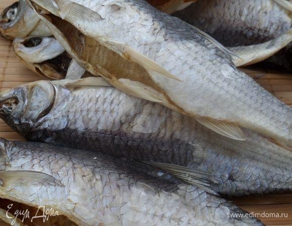 Вяленая рыба (чебак)