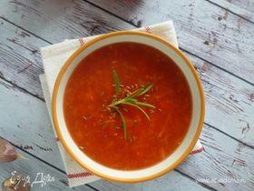 Суп из печеных томатов и перцев