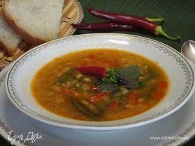 Ароматный суп с фаршем и булгуром