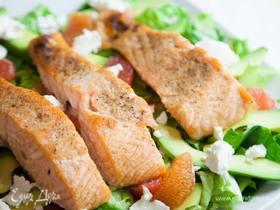 Салат с лососем и цитрусовыми