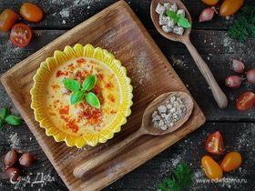 Сырный суп с хрустящими морковными отрубями