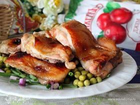 Запеченное куриное филе в глазури