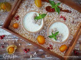 Йогурт из козьего молока с апельсином и отрубями