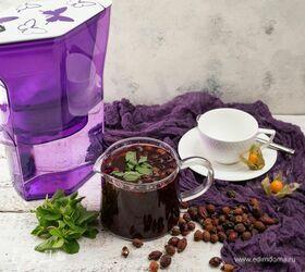 Витаминный чай с черной смородиной и шиповником