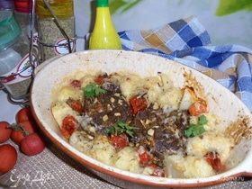 Баранина с картофельными клецками