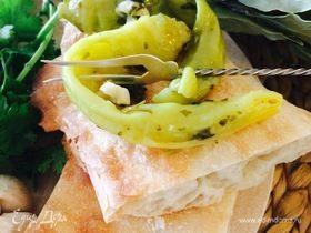Зеленый перец в масле по-грузински (წიწაკა ზეთში)