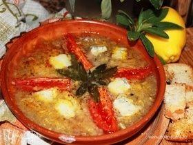 Запеченный овощной суп с горгонзолой и шалфеем