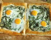 Флорентийский пирог с яйцами и шпинатом